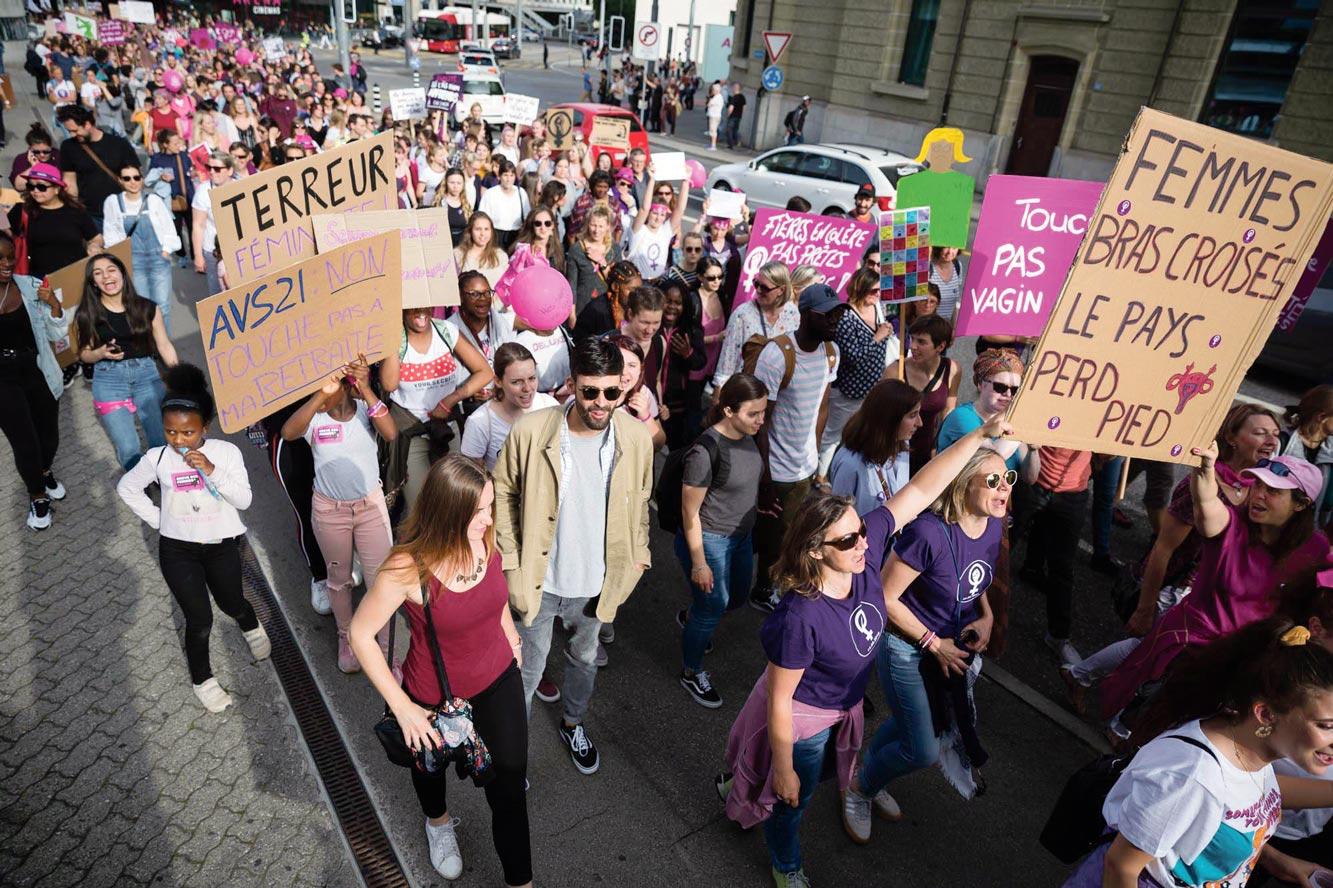 Grève des femmes, Fribourg