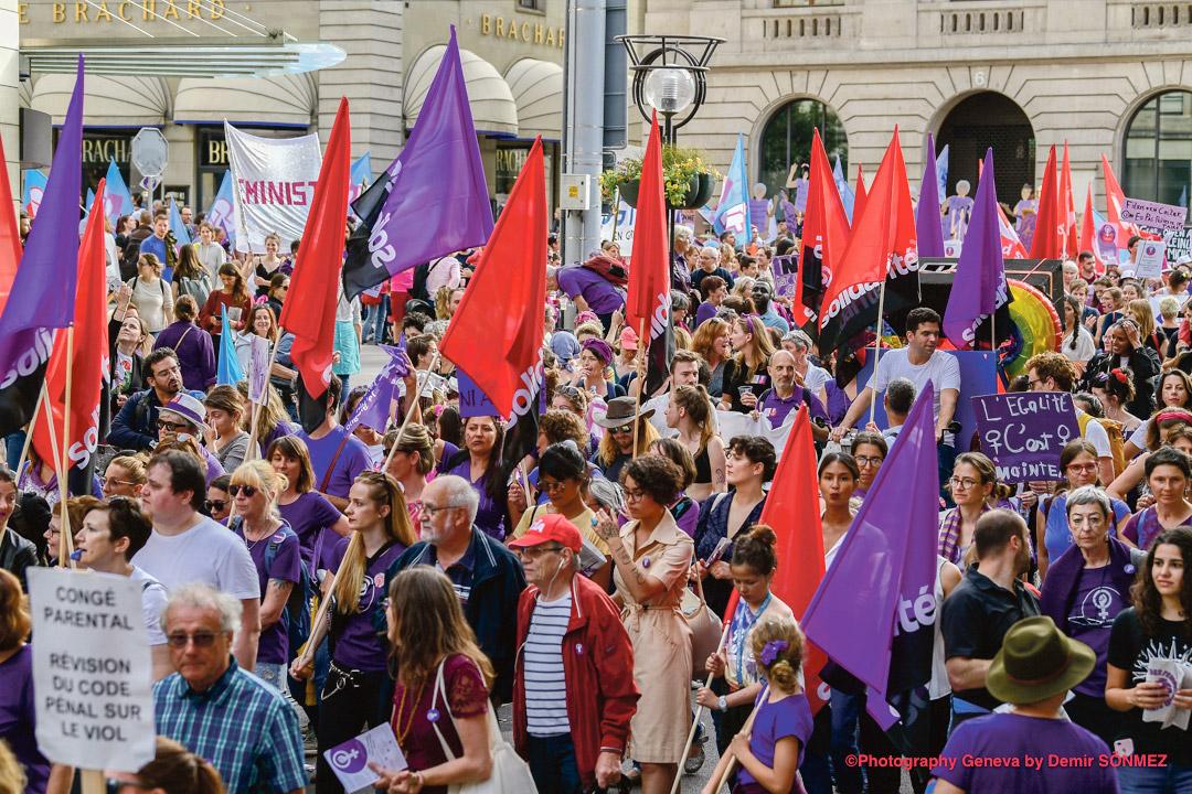 Grève des femmes, Genève. Photo: Demir Sönmez