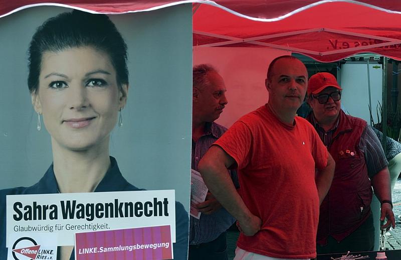 Affiche électorale de Sahra Wagenknecht (Die Linke)