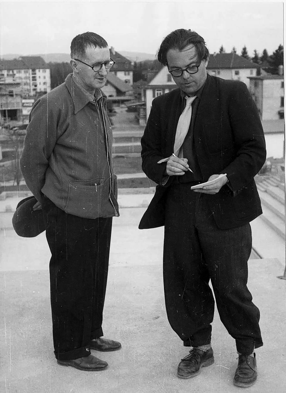 Max Frisch et Berthold Brecht à Zurich