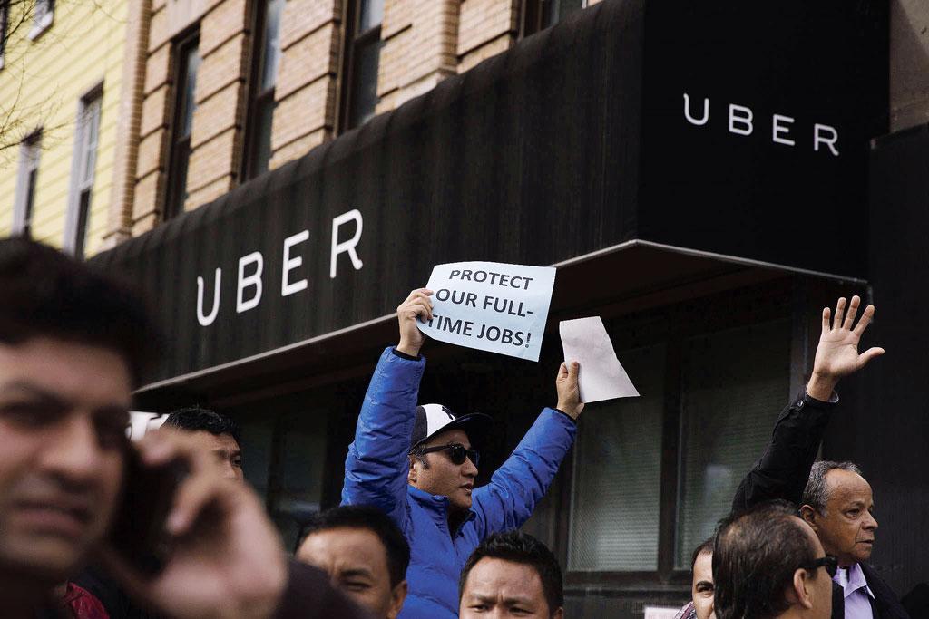 Manifestation des chauffeurs Uber à San Francisco