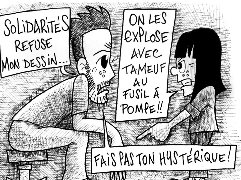 solidaritéS refuse un dessin