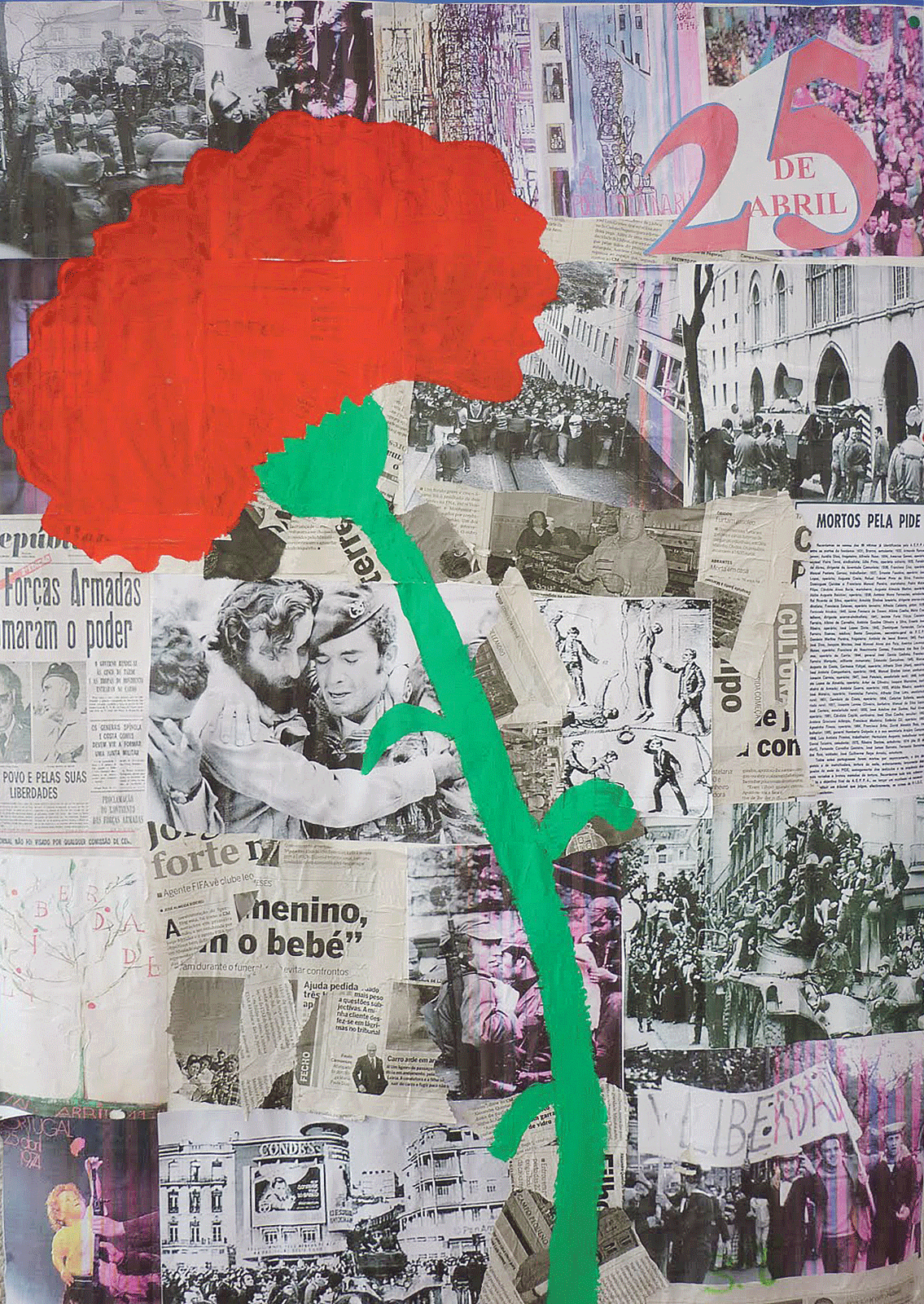 Collage révolution des œillets