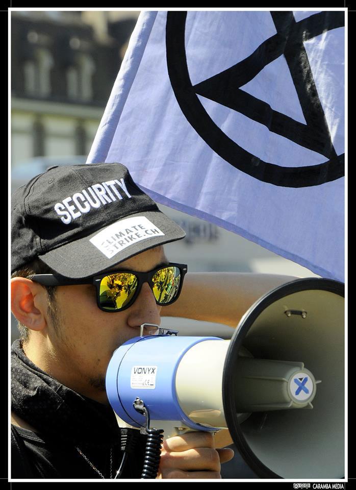 Extinction Rebellion action à Lausanne