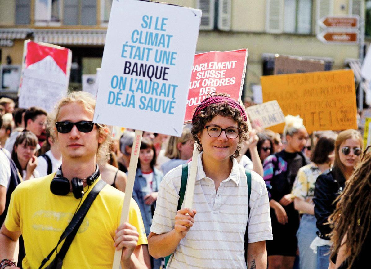 Grève pour le climat, Lausanne, 24 mai 2019. Photo: Sandrine Gutierrez Grise