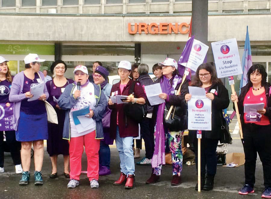 Grève des femmes aux urgences des HUG