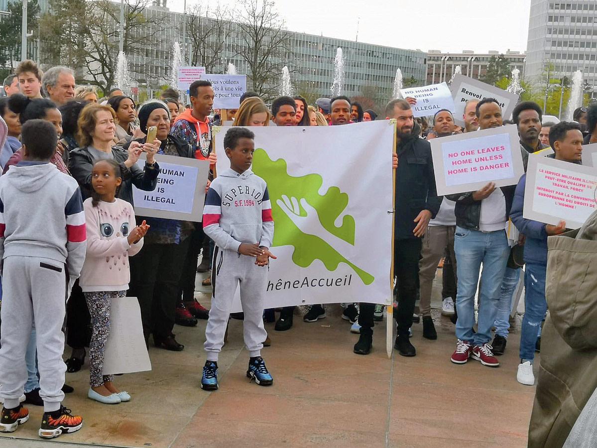 Manifestation contre le renvoie des Erythréens et Erythréennes, Genève, 2019