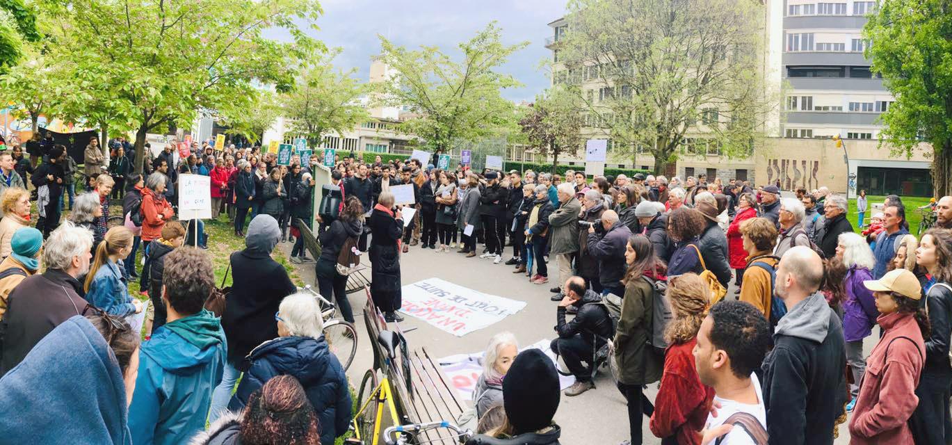 Manifestation en souvenir d'Ali Reza, Geneve, 2019