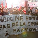 Manifestation anti-austérité et action lors de la visite d'Angela Merkel au parlement européen, 2012.