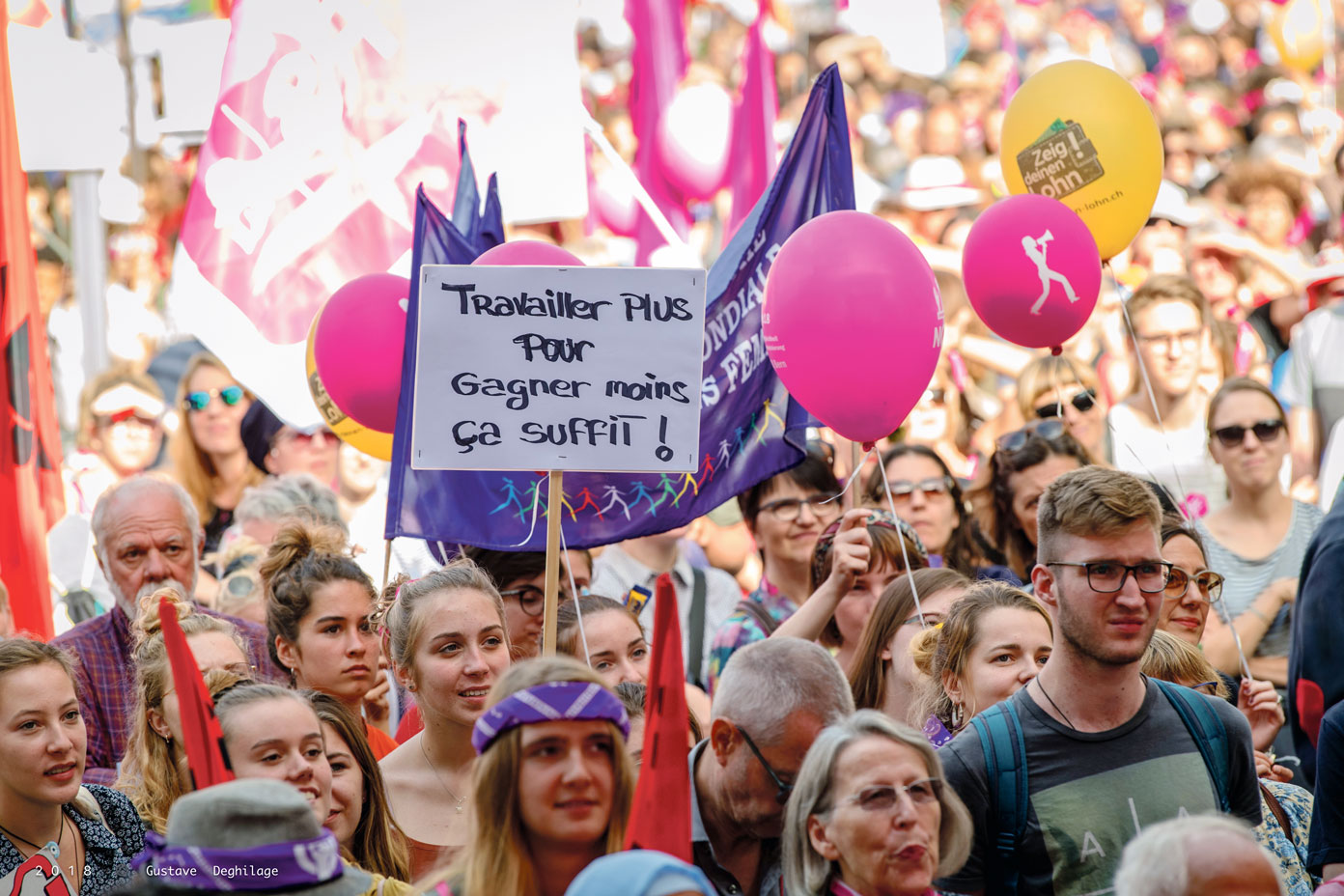Manifestation pour l'égalite, Berne, septembre 2018. Photo: Gustave Deghilage
