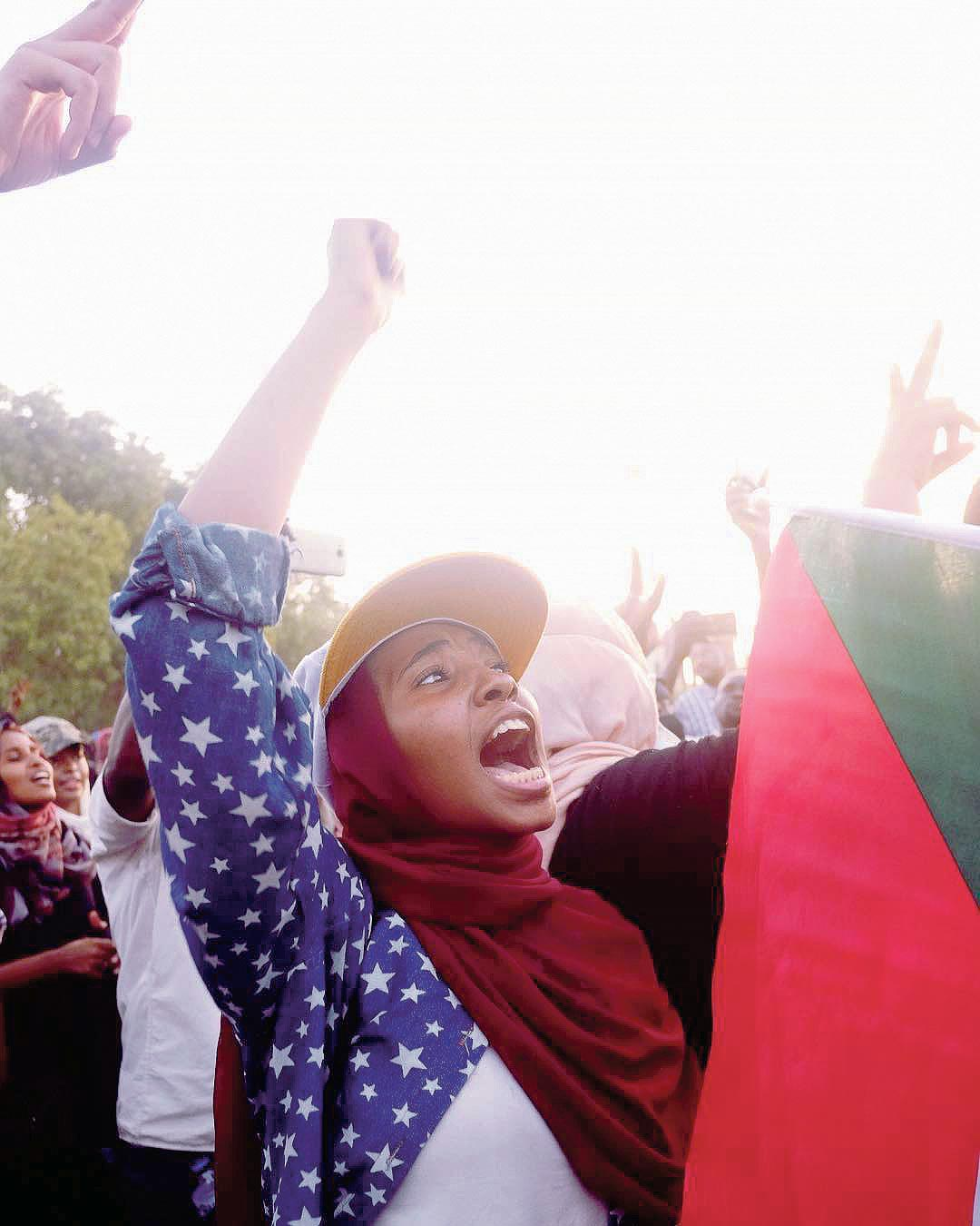 Manifestation à Khartoum. Photo: Ola Alsheikh Photography