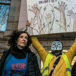 manifestation contre le blocage des frontières barcelone mars 2020
