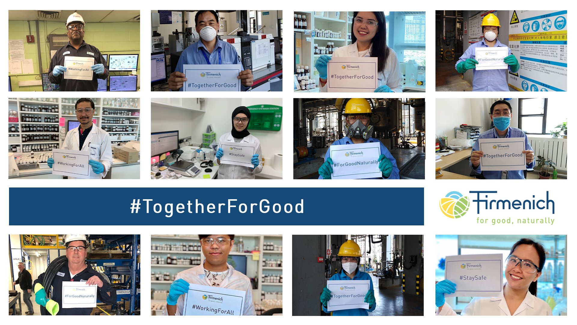 Firmenich, campagne #TogetherForGood