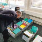 Guy Parmelin visite l'office de l'assurance chômage à Berne