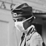 Infirmière durant la grippe espagnole, USA, 1918