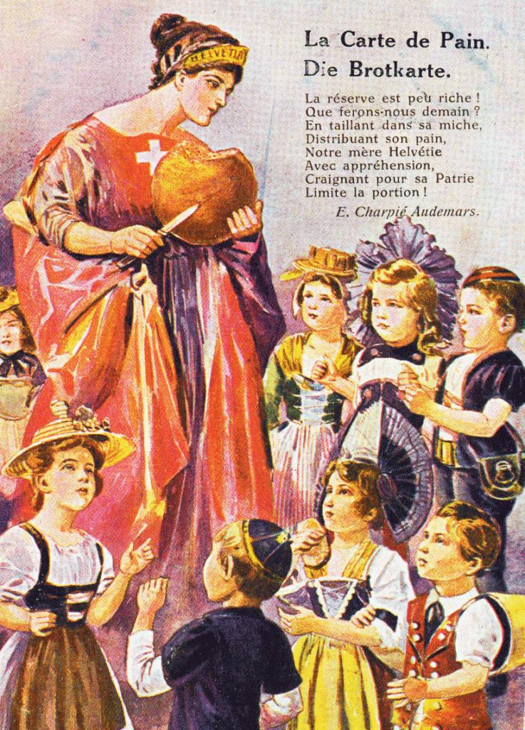 La carte de pain, Suisse, 1918