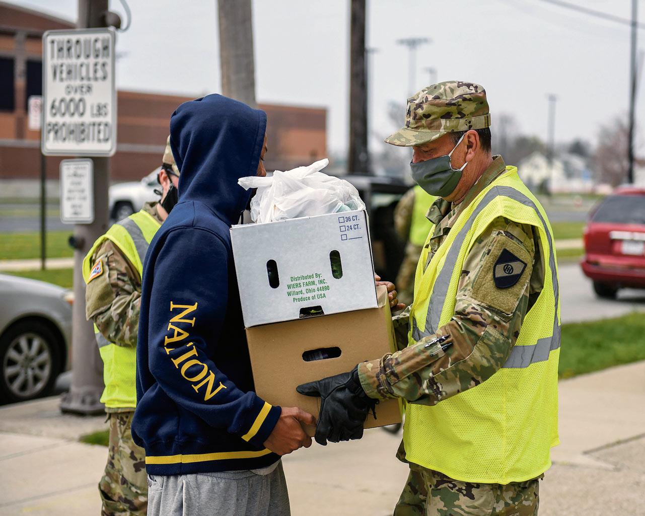 Distribution alimentaire, Caroline du Sud, 24 avril 2020