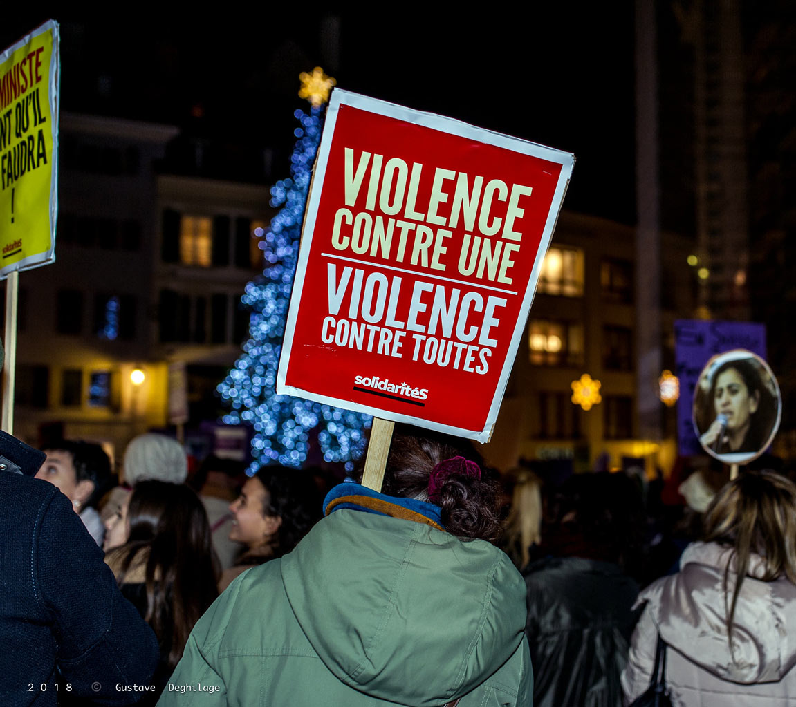 Marche contre les violences sexuelles, Lausanne, 2018
