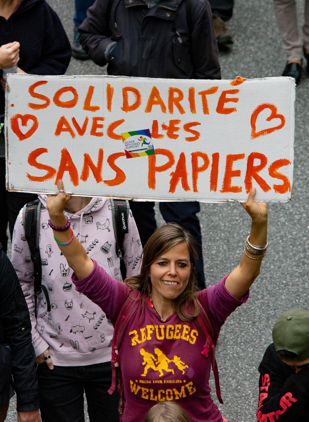 Solidarité avec les sans-papiers