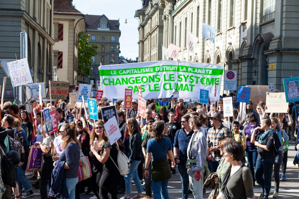 Manifestation nationale pour le climat à Berne, septembre 2019