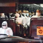 Médecins cubains à leur arrivée en Afrique du sud, 27 avril 2020