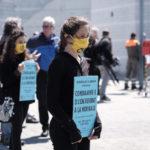 Action Extinction Rebellion devant le Grand Conseil à Yverdon-les-bains, mai 2020