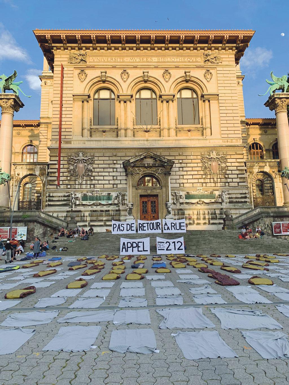 Action Sleep in, Lausanne, 2 juin 2020