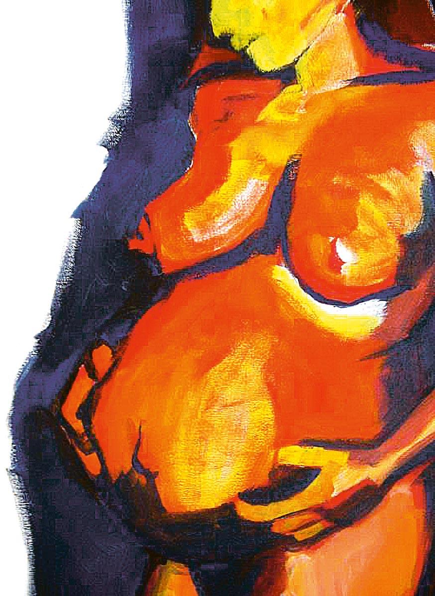 Peinture d'une femme enceinte