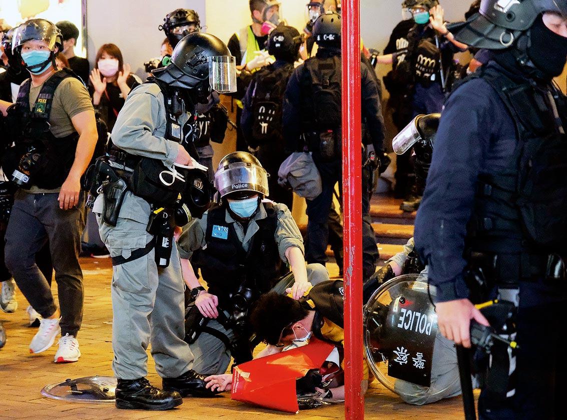 Répression policière Hong Kong, 1er juillet 2020