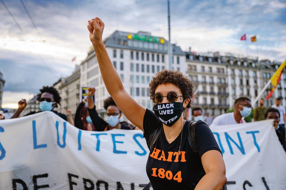 Manifestation antiraciste, Genève, juillet 2020