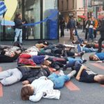 Die-in contre l'invasion du Rojava Lausanne, octobre 2019