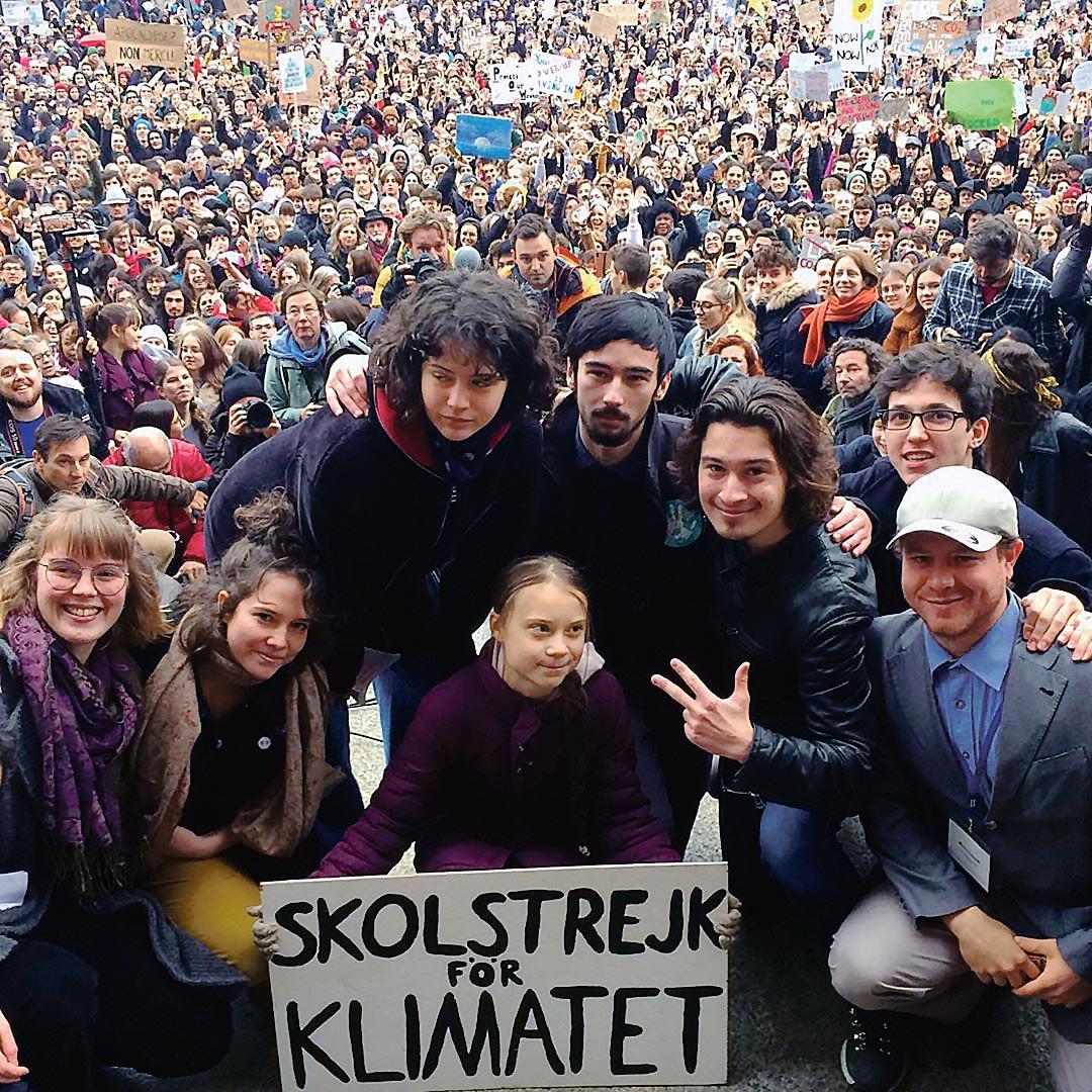 Greta Thunberg lors de la grève du climat à Lausanne, 20 février 2020