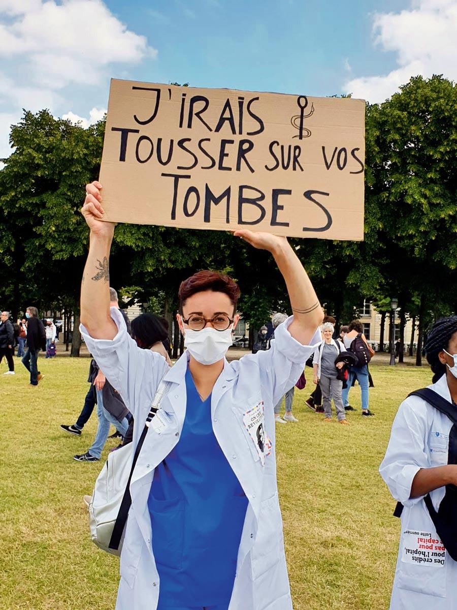 Manifestation du service public, Paris, 16 juin 2020