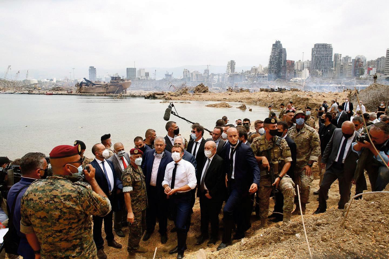 Emmanuel Macron, Beyrouth, 7 août 2020