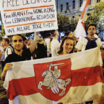 Manifestation pour la Biélorussie