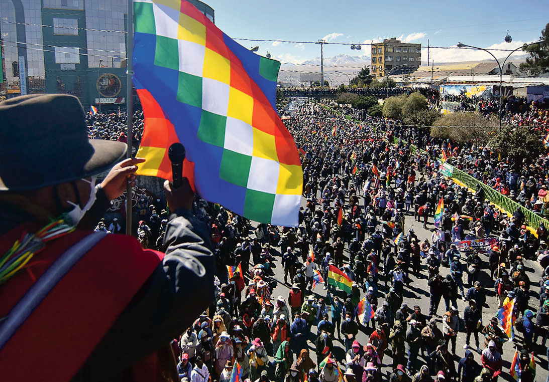 Marche El Alto, Bolivie, 14 août 2020