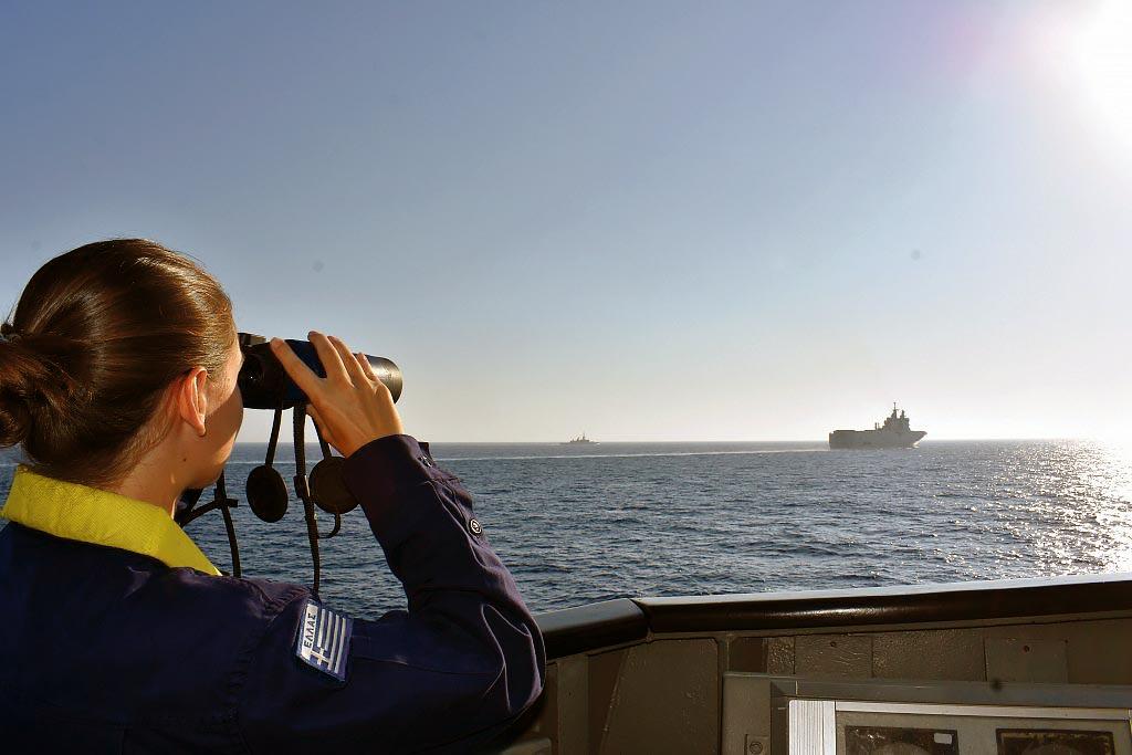 Exercice naval conjoint des armées française et grecque en Méditérranée orientale, août 2020