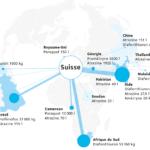 Infographie des pesticides interdits déclarés à l'exportation depuis la Suisse (2012–2019)