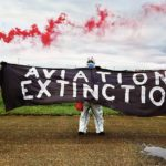 Action Extinction Rebellion Aéroport de la Blécherette, Lausanne, juillet 2020