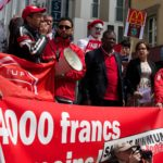 Manif fast-food, salaire minimum, Genève, 2014