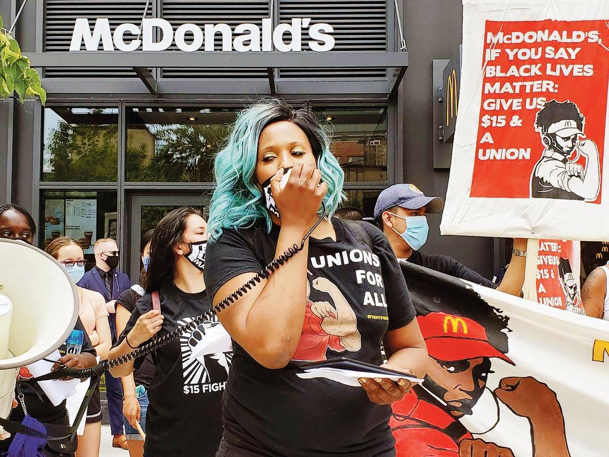 Manif salaire minimum, Chicago, 19-06-2020
