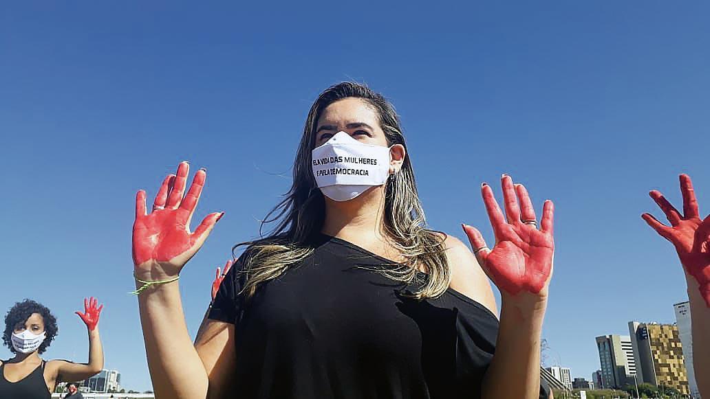 "Manifestation ""Fora Bolsonaro"", Brasilia, septembre 2020"