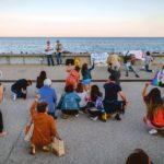 Manifestation «20 chaussures contre le racisme», organisée par le mouvement des Sardines, Sanremo, 20 juin 2020