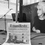 Hommage à Rossana Rossanda, place Santi Apostoli, Rome, 24 septembre 2020
