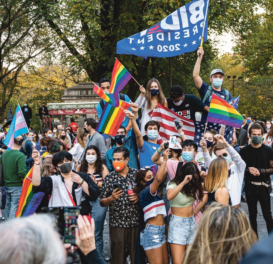 Fête lors de l'élection de Joe Biden, Washington