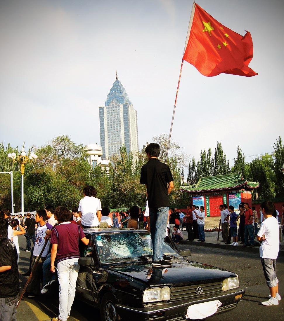 Manifestation Han contre des Ouïgour