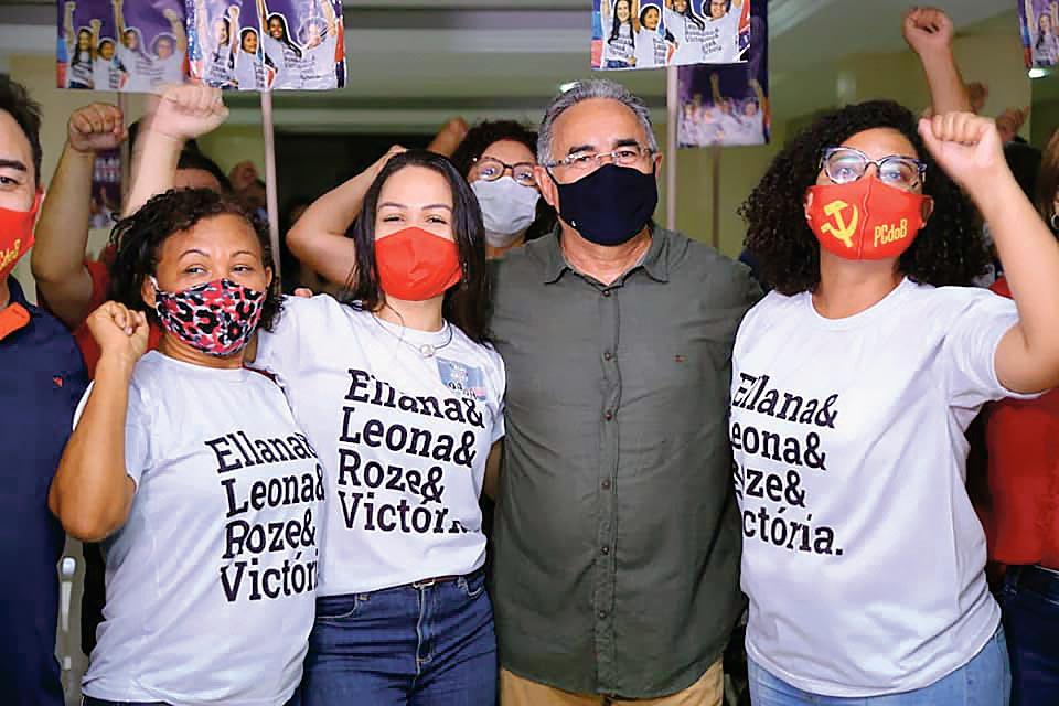 Edmilson Rodrigues, candidat du PSOL lors de sa campagne victorieuse à la mairie de Belém