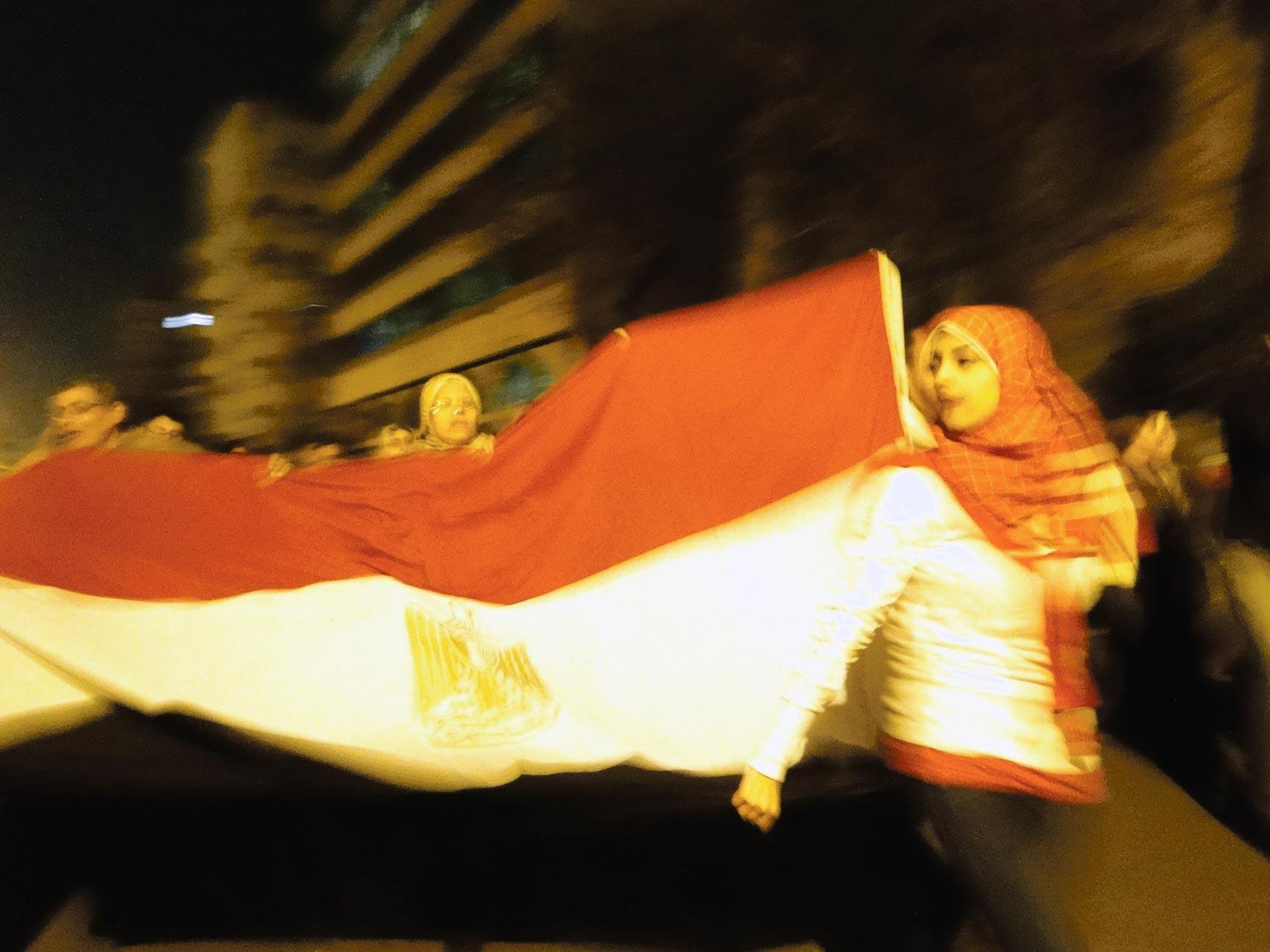 Place Tahrir, Le Caire, 11février 2011