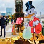 Action du collectif Qui va payer l'addition, Lausanne, novembre 2020