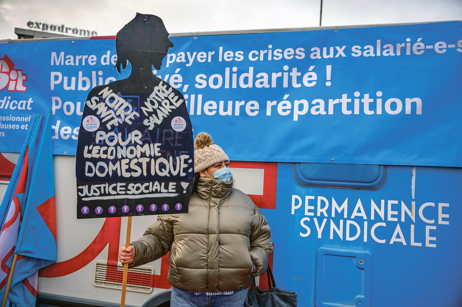 Manifestation pour une sortie de crise solidaire, Genève, 19 décembre 2020